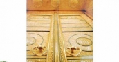 باب الكعبة المشرفة أكبر كتلة ذهبية في العالم