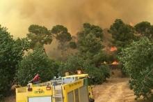 بالصور...حرائق ضخمة وسط كيان الاحتلال هي الأكبر منذ حريق جبل ...