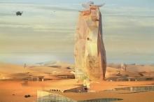 مدينة عمودية فريدة تنتظر الولادة في قلب الصحراء الكبرى
