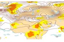 ظهرت على الخرائط ..موجة نشطة قادمة في الغلاف الجوي ستؤدي ...