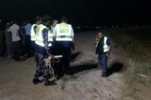 صور: انتشال جثة مواطن من بركة زراعية في الضفة