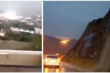 بالفيديو..سحابة الهدا تثير الرعب بالسعودية