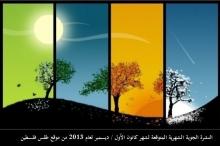 موقع طقس فلسطين يصدر النشرة الشهرية لشهر كانون الأول / ...