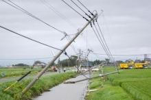 اعصار قوي يضرب اليابان