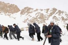 انهيارات ثلجية تودي بنحو مائة شخص بشمال أفغانستان