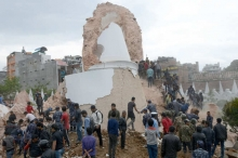 بالصور .. هنا وقع الزلزال المدمر.. هنا عندما تزلزل الأرض