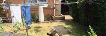 أثناء نشرها الغسيل حفرة تبتلع أسترالية في فناء منزلها