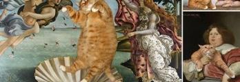 للفنانة الروسية سفيتلانا بيتروفا لوحات بطلها قط سمين في كلاسيكيات شهير ...